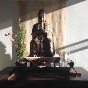Altar with Manjushri Sculpture