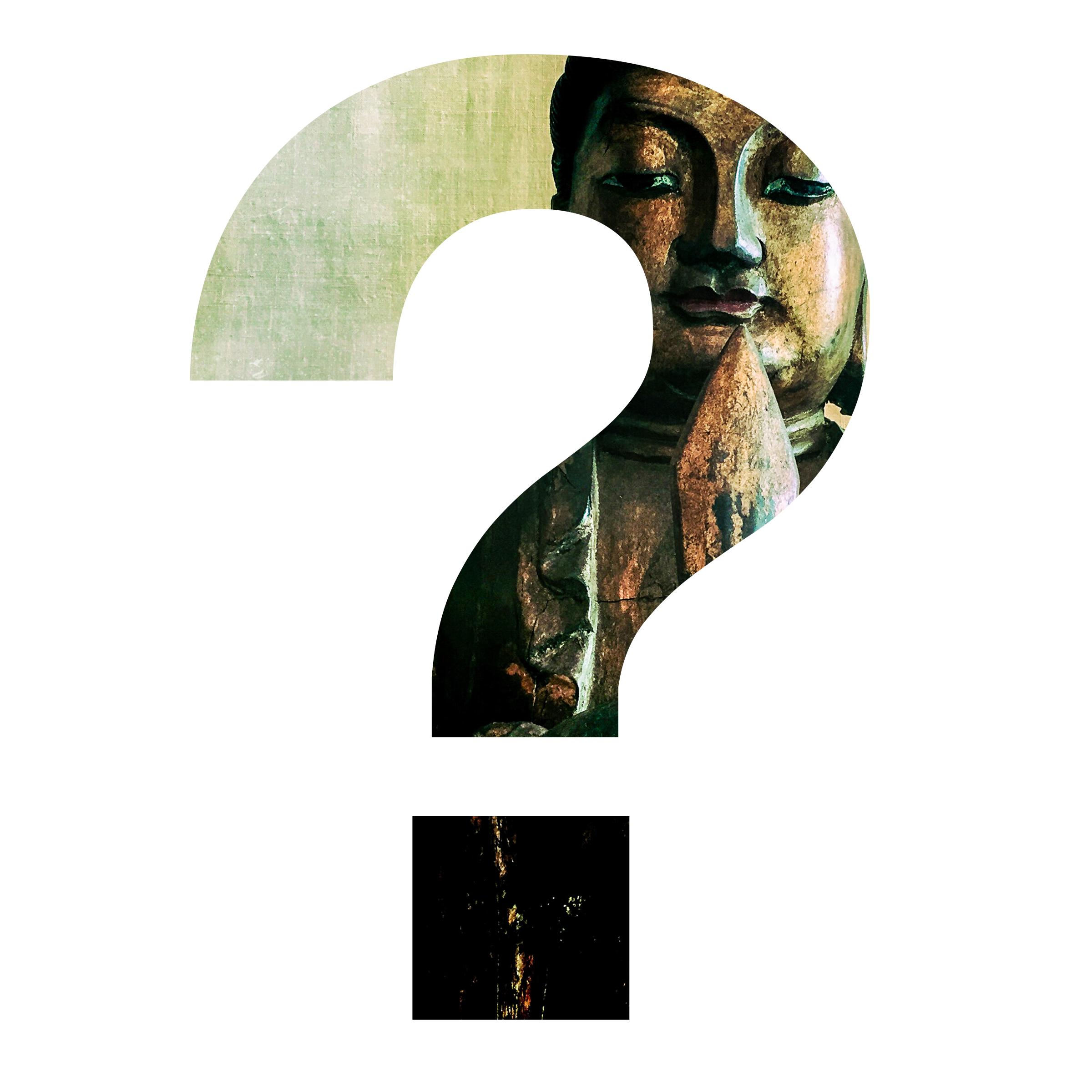 manjushri within a question mark