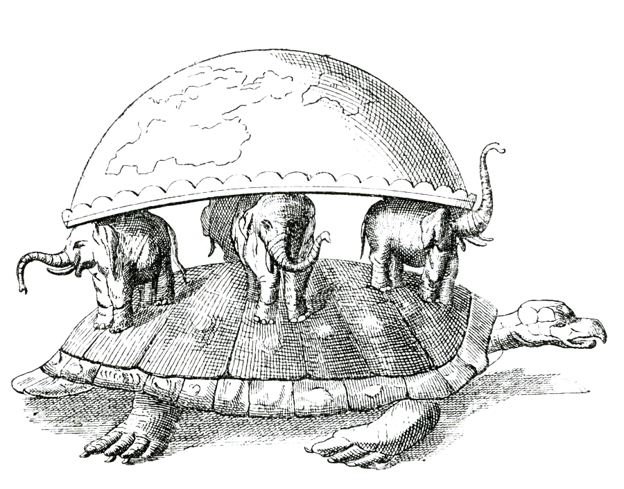 Hindu Image of the World as a Turtle