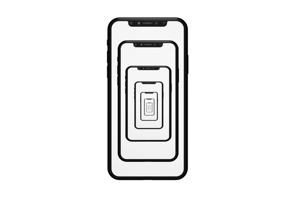 series of smartphone outlines